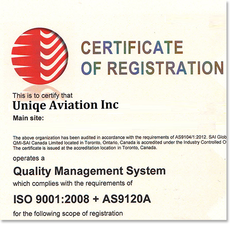 Uniqe Aviation - High Quality aircraft components!